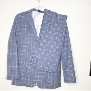 Tommy Hilfiger Plaid Suit Pants & Blazer SZ 18